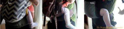 Safe Babywearing Series, Part 2 | NaturallyMyDear.com (The Happy Hippie Homemaker Tula/Ergo/Boba Comparison